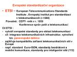 evropsk standardiza n organizace