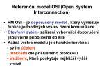 referen n model osi open system interconnection