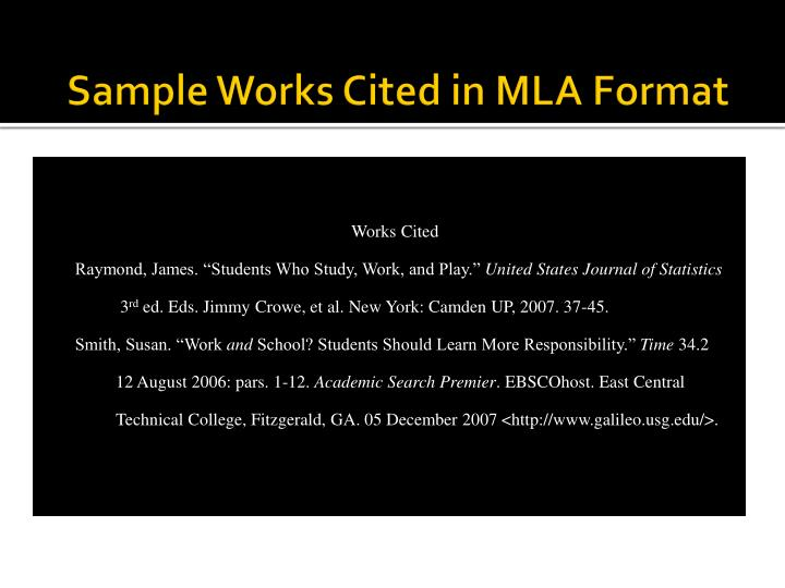 sample works cited in mla format n.