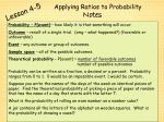 applying ratios to probability1