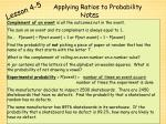 applying ratios to probability2