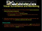 visual surveillance and monitoring