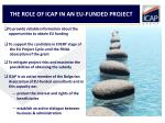 the role of icap in an eu funded project