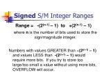signed s m integer ranges