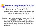 two s complement ranges