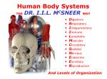 human body systems the dr i i l m c sneer way