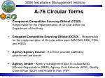 a 76 circular terms