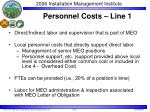 personnel costs line 1