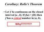 corollary rolle s theorem1