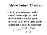 mean value theorem1
