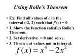using rolle s theorem