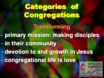 categories of congregations1