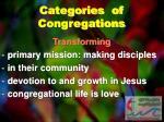 categories of congregations1