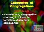 categories of congregations2