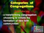 categories of congregations2