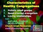 characteristics of healthy congregations1
