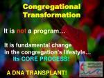 congregational transformation