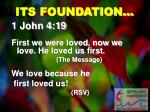 its foundation