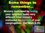some things to remember7