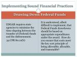 implementing sound financial practices