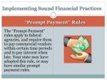 implementing sound financial practices2