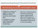 implementing sound financial practices3