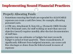 implementing sound financial practices4