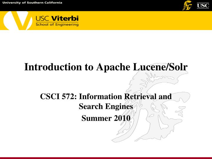 introduction to apache lucene solr n.