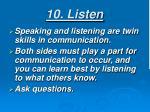 10 listen