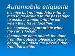 automobile etiquette