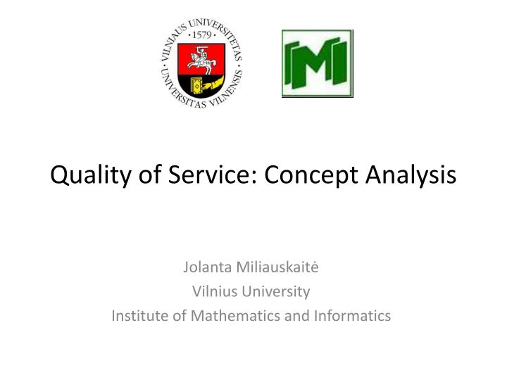 quality of service concept analysis n.