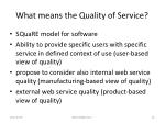 what means the quality of service1
