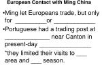 european contact with ming china