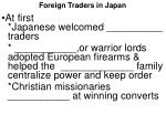foreign traders in japan
