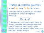 trabajo en sistemas gaseosos