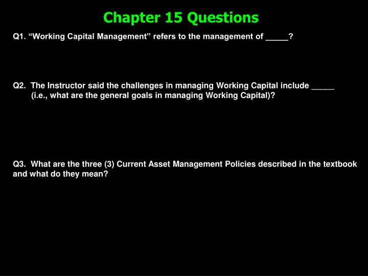 chapter 15 questions n.