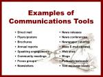 examples of communications tools