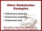 other stakeholder examples