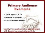 primary audience examples
