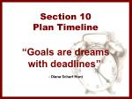 section 10 plan timeline