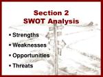 section 2 swot analysis