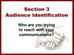 section 3 audience identification
