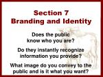 section 7 branding and identity