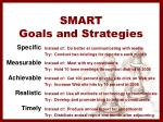 smart goals and strategies