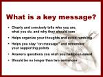 what is a key message