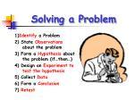 solving a problem