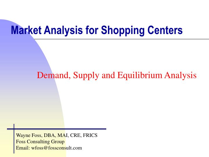 market analysis for shopping centers n.