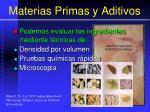 materias primas y aditivos12