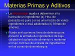 materias primas y aditivos15