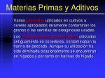 materias primas y aditivos25
